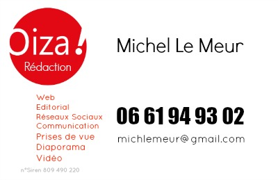Carte de visite de Michel Le Meur - Oiza Rédaction