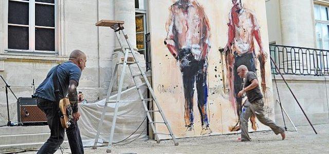 Ligne de front : performance musicale & picturale entre Serge Tessot-gay et Paul Bloas