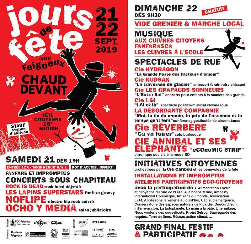 Jours de fête à Feigneux, les 21 et 22 septembre 2019